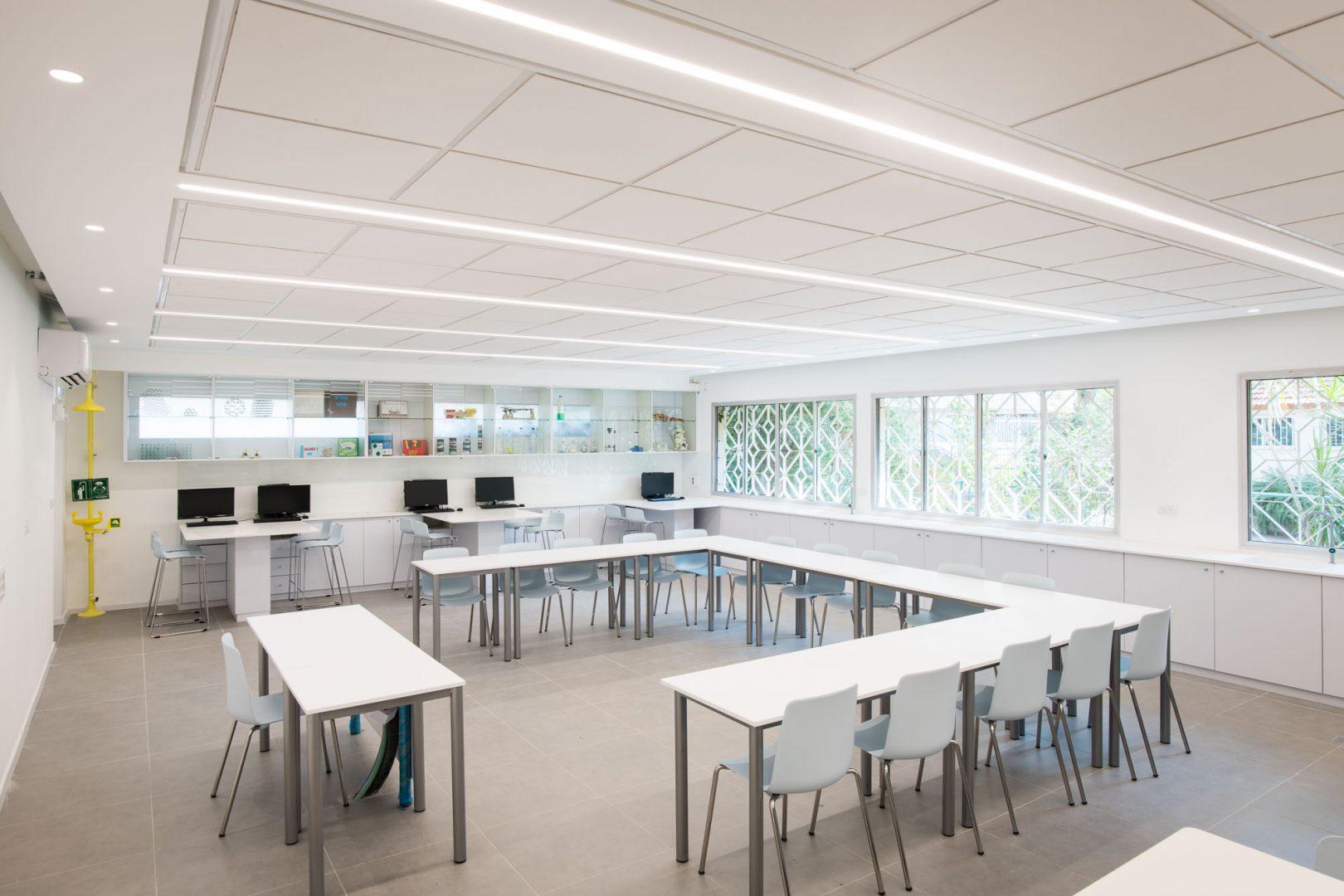 צילום זווית א' מחדר המורים